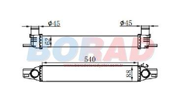Resim TURBO RADYATÖRÜ FIAT FİORİNO 1.3 MJTD / PEUGEOT BIPPER 1.4 HDİ