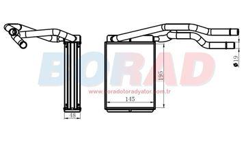 Resim Kalorifer Radyatörü Ford Fiesta 1.25 efi 1.4 efi 1.4 tdci 1.6 efi Motor 2001 Model Sonrası
