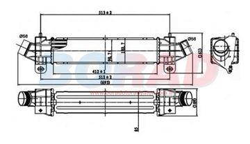 Resim Turbo Radyatörü Ford Mondeo 2.0 tdci 2.2 tdci Motor 2000 Model Sonrası