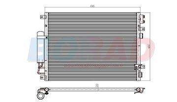 Resim Klima Radyatörü Chrysler 300c 2.7 3.5 3.6 Motor 2005 Model Sonrası Benzinli