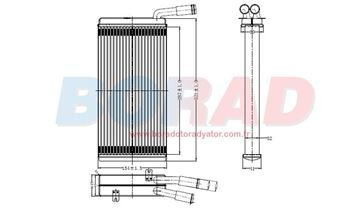 Resim Kalorifer Radyatatörü Volkswagen Transporter T4 Klimasız 1.9 D 2.0 İ 2.4 D Motor 1990 Model Sonrası
