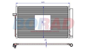 Resim Klima Radyatörü Bmw 5.20d 5.25d 5.30d 6.20d 7.30d 7.40d Motor 2003 Model Sonrası