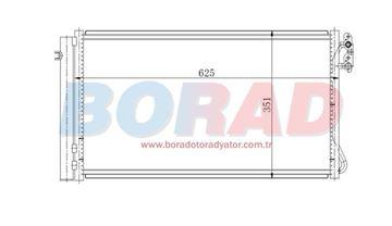 Resim Klima Radyatörü Bmw E90 E91 E92 E93 1.16D 1.18D 1.20D 3.16D Motor 2004 Model Sonrası