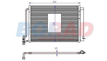 Resim Klima Radyatörü Bmw X5 3.0D Motor 2000 Model Sonrası