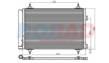 Resim Klima Radyatörü 307 Citroeen Berlingo c4 picasso 1.4 1.6 Motor 2008 Model Sonrası