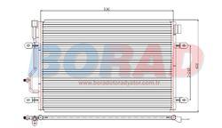 Resim Klima Radyatörü Audi A4 1.6İ 1.8T 1.9TDİ 2.0. Motor 2000 ve 2003 Model Arası